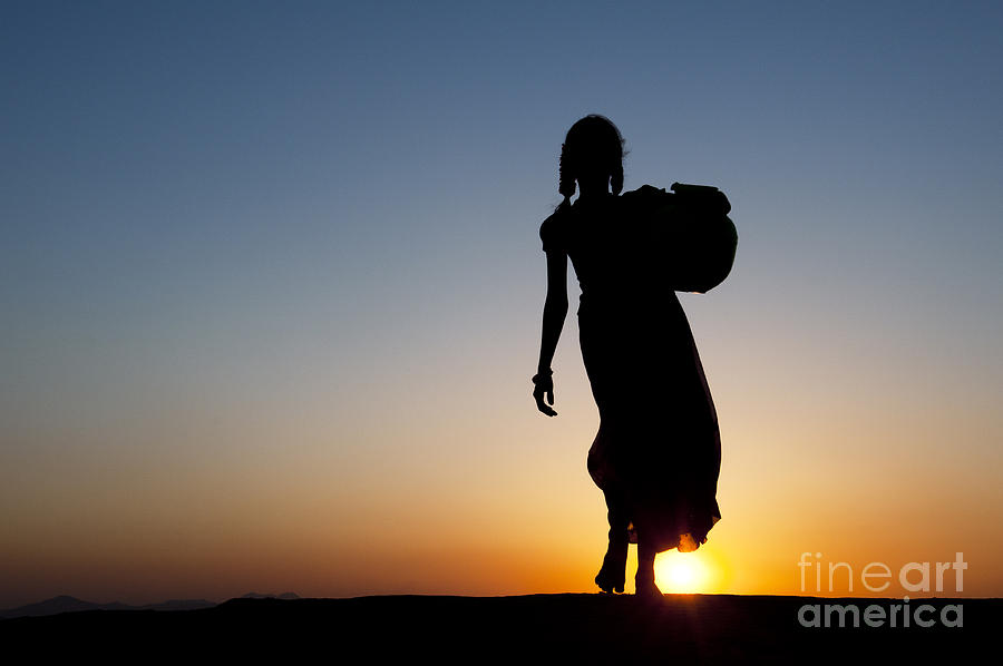 Indian Photograph - Fetching Water by Tim Gainey