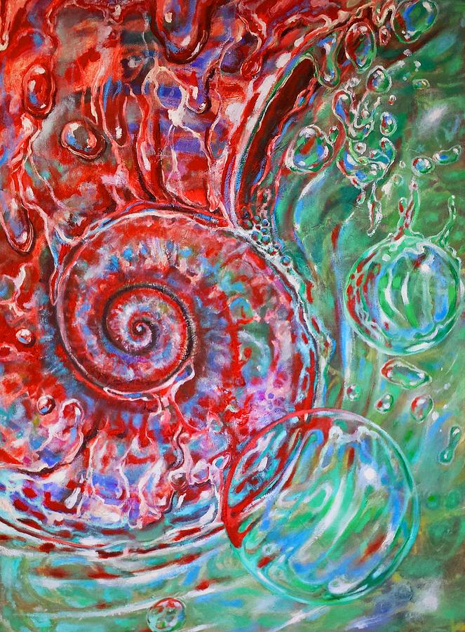 Fibonacci Spiral Painting by Oscar Burgos