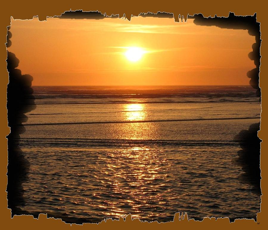 Fiery Cannon Beach Sunset Photograph