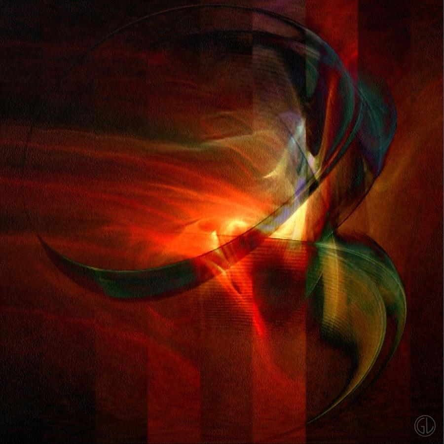 Fiery Flight Digital Art