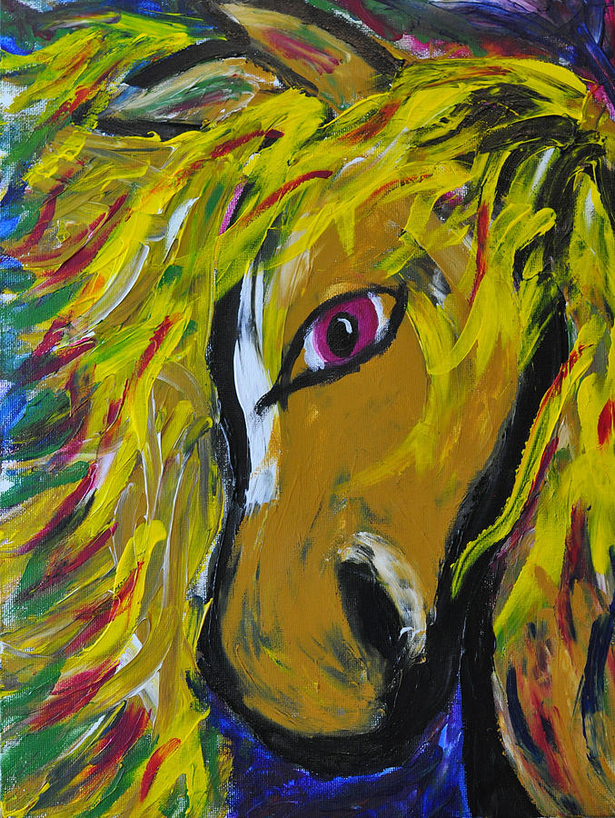 Horse Painting - Fiery Steed by JAMART Photography