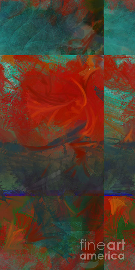 Fiery Whirlwind Onset Painting  - Fiery Whirlwind Onset Fine Art Print
