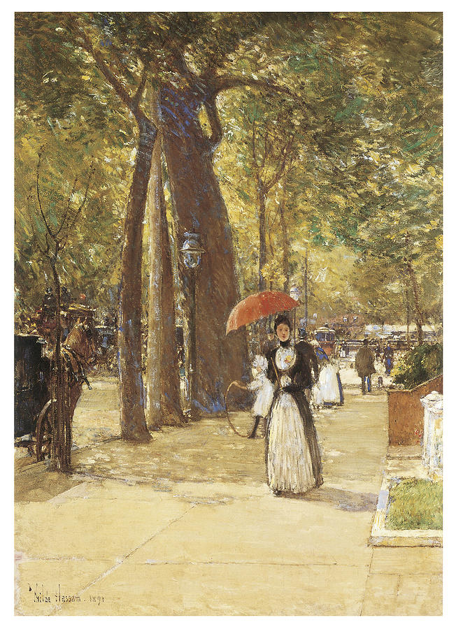 Childe Hassam Painting - Fifth Avenue At Washington Square by Childe Hassam