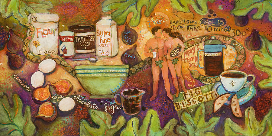 Fig Biscotti Recipe Painting
