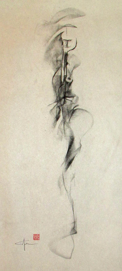 Figurative Gesture Drawing Drawing  - Figurative Gesture Drawing Fine Art Print