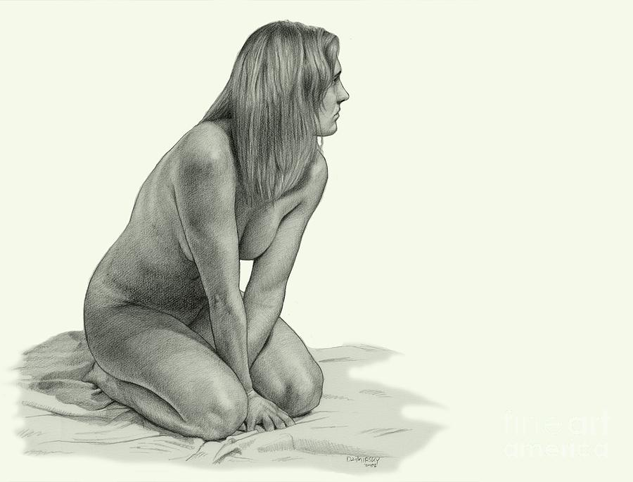 Figure Drawing Drawing  - Figure Drawing Fine Art Print