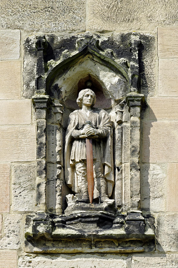 Figure Of St Wystan Above Porch Door Photograph
