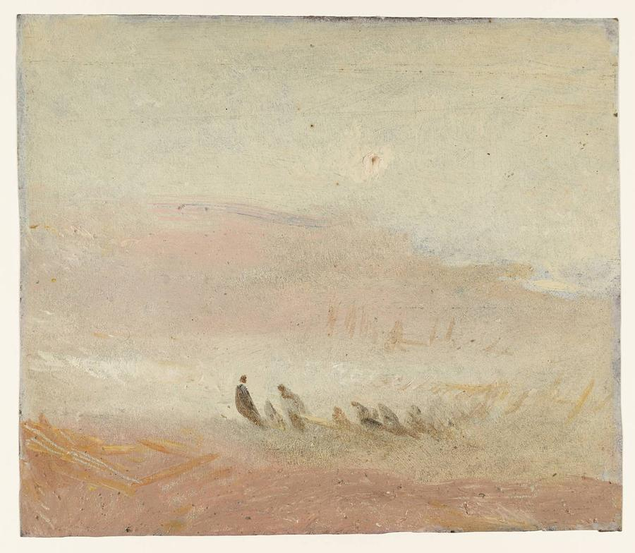 Figures On A Beach Study 1845 Painting