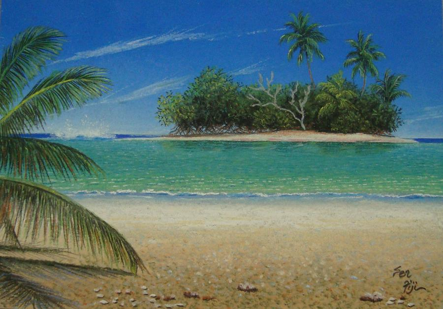 Fiji Beach Island Painting