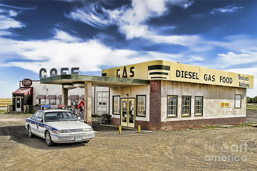 Corner Gas Photograph - Fill It Up by Nicholas Kokil
