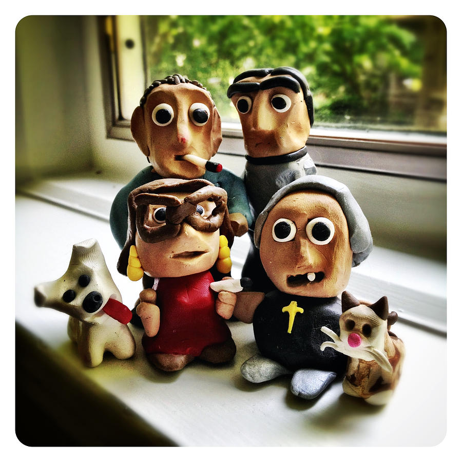 Fimo Sculpture - Fimo Family by Natasha Marco