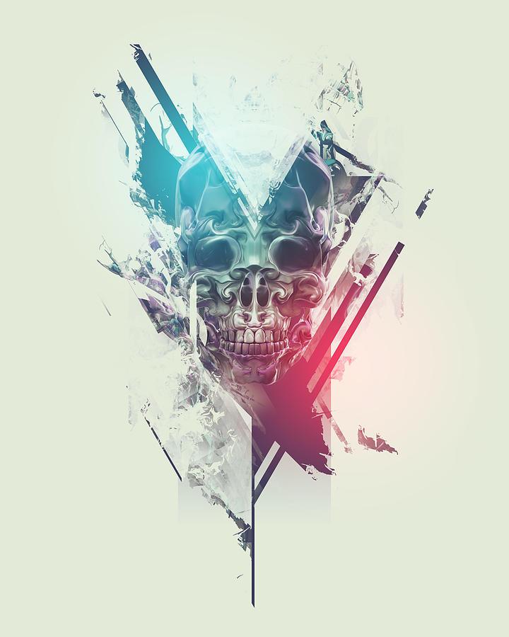 Skull Digital Art - Finale by George Smith