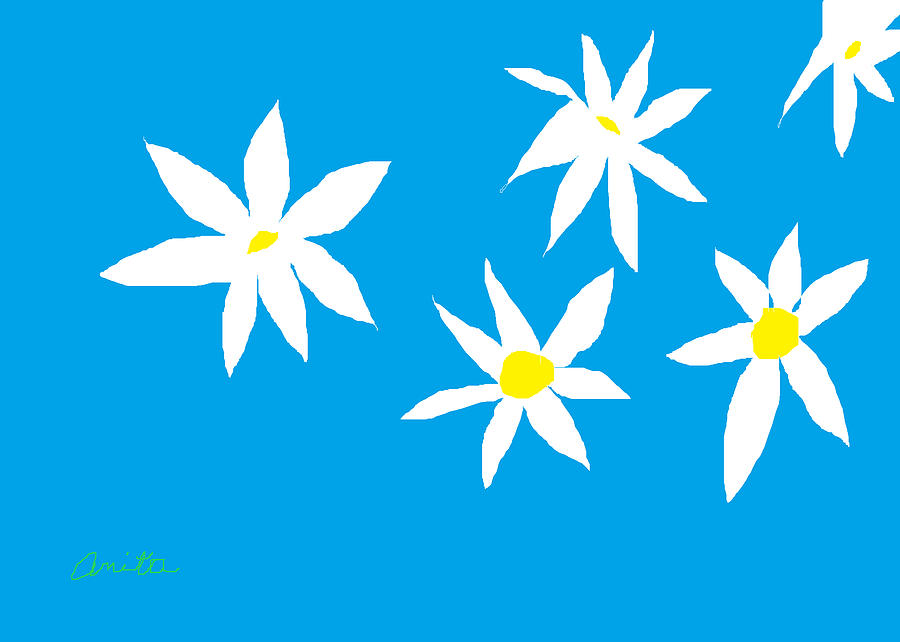 Daisy Painting - Fine Day by Anita Dale Livaditis