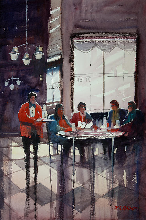 Ryan Radke Painting - Fine Dining by Ryan Radke