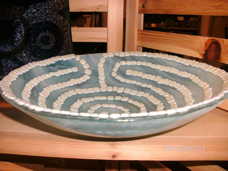 Bowl Glass Art - Finger Labyrinth Bowl by James Burchett