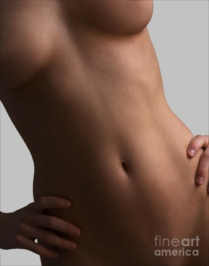 Fingers Breasts And A Navel Digital Art  - Fingers Breasts And A Navel Fine Art Print