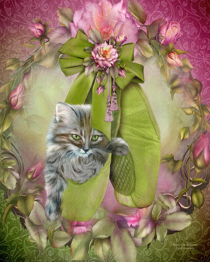 Cat Mixed Media - Fiona The Ballerina by Carol Cavalaris