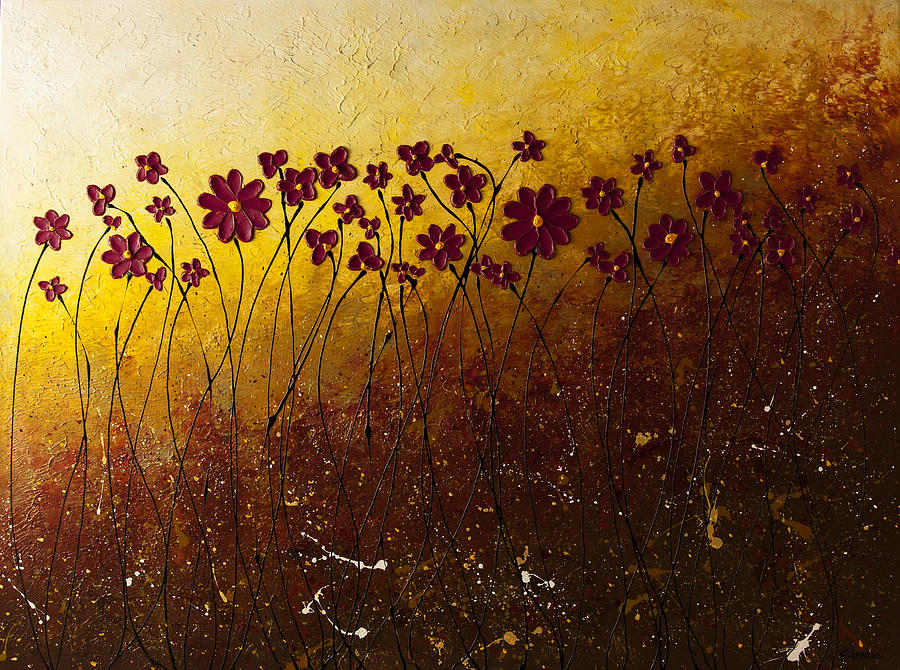 Abstract Art Painting - Fiori Di Campo by Carmen Guedez