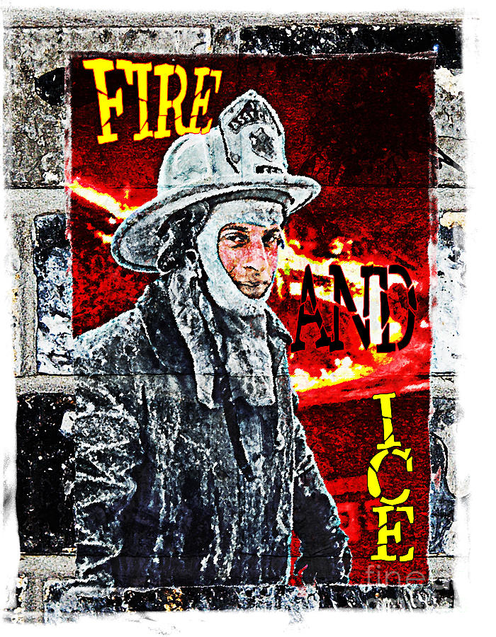 Fire And Ice Graffiti Art Photograph  - Fire And Ice Graffiti Art Fine Art Print