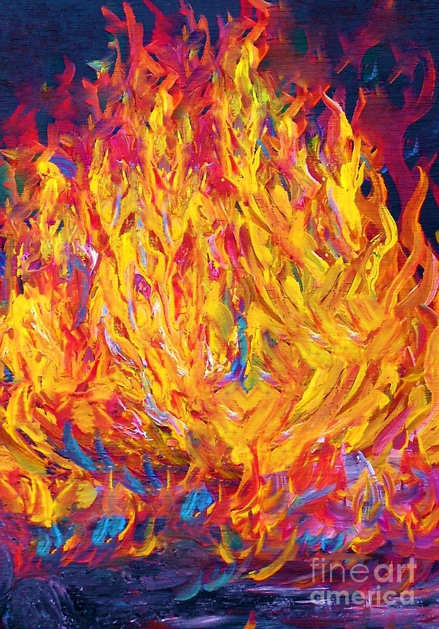 Fire And Passion Painting  - Fire And Passion Fine Art Print
