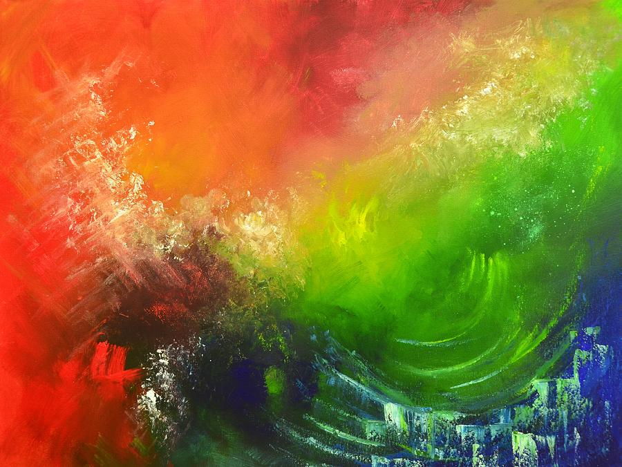 Abstract Painting - Fire And Water by Christopher Vidal