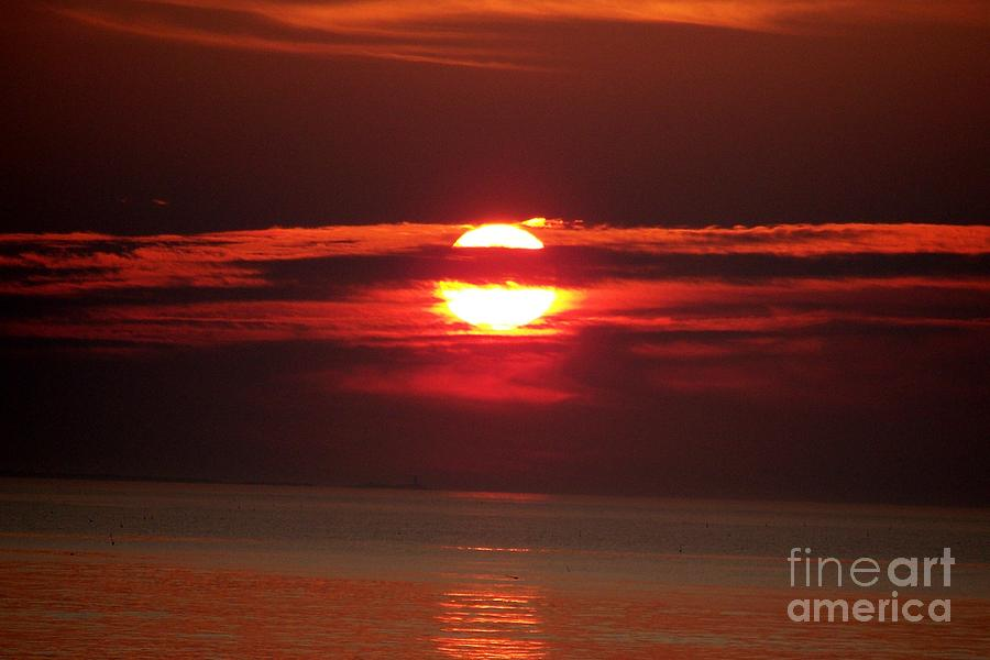 Fire Ball In The Sky Photograph