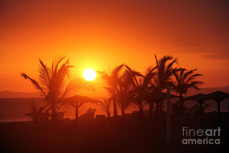 Fire Ball Sunset Photograph