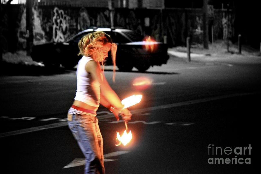 Fire Dance Photograph  - Fire Dance Fine Art Print