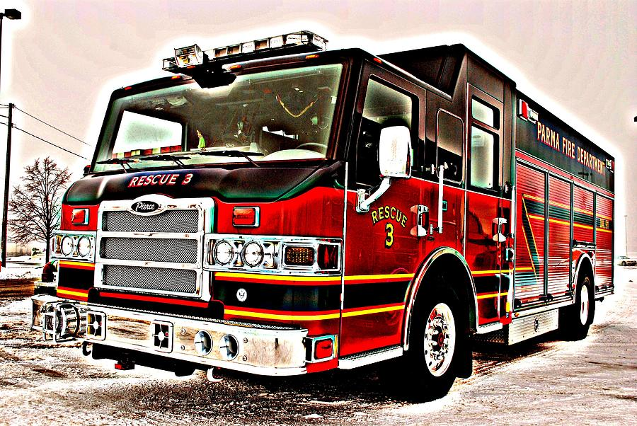 Fire Engine Red Photograph