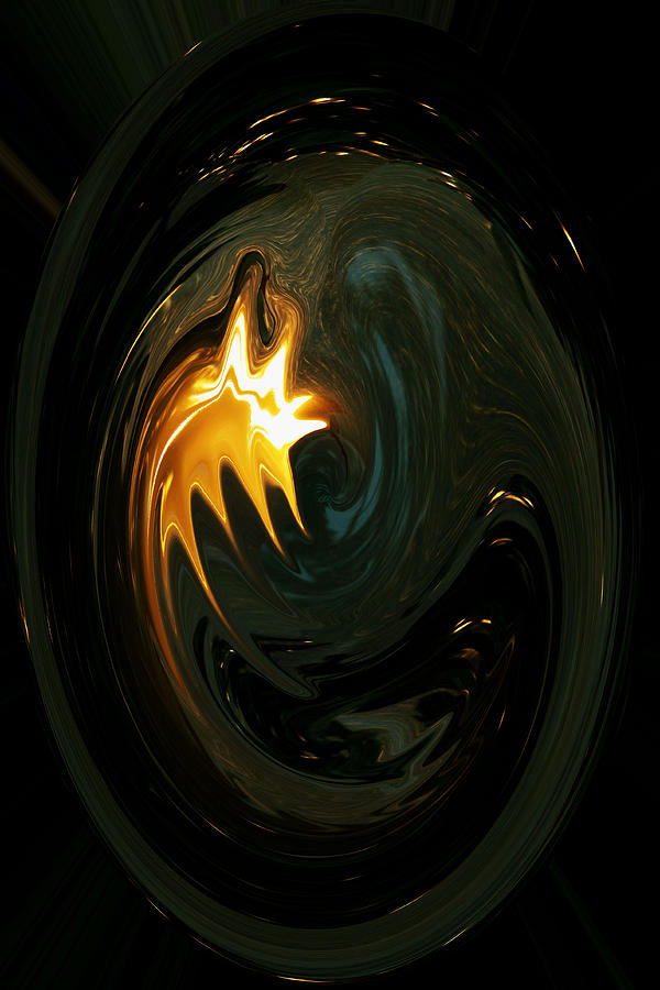 Abstract Photography Photograph - Fire From Above by Ella Char