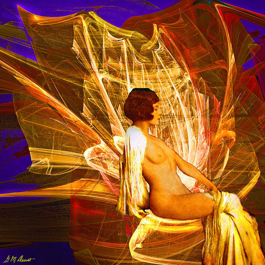 Fire Goddess Digital Art