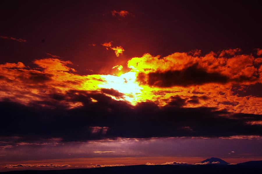 Fire In The Clouds Photograph  - Fire In The Clouds Fine Art Print