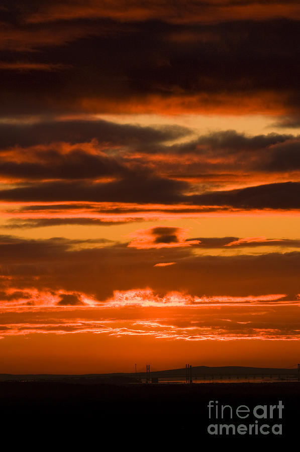Annegilbert Photograph - Fire In The Sky by Anne Gilbert