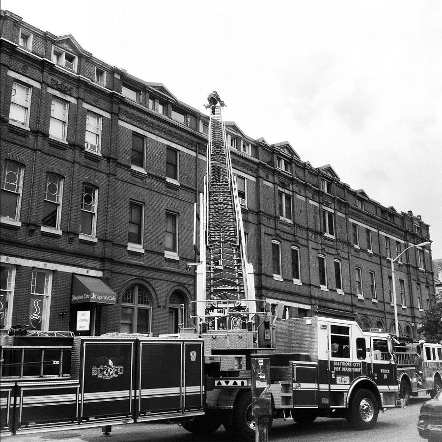 Fire On Preston Street Photograph  - Fire On Preston Street Fine Art Print