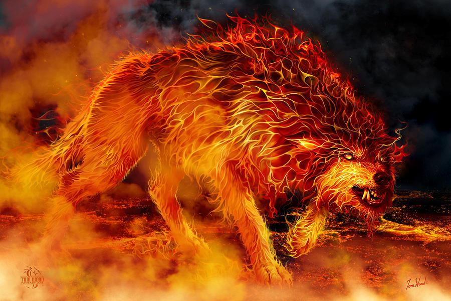 Fire Stalker Digital Art By Tom Wood