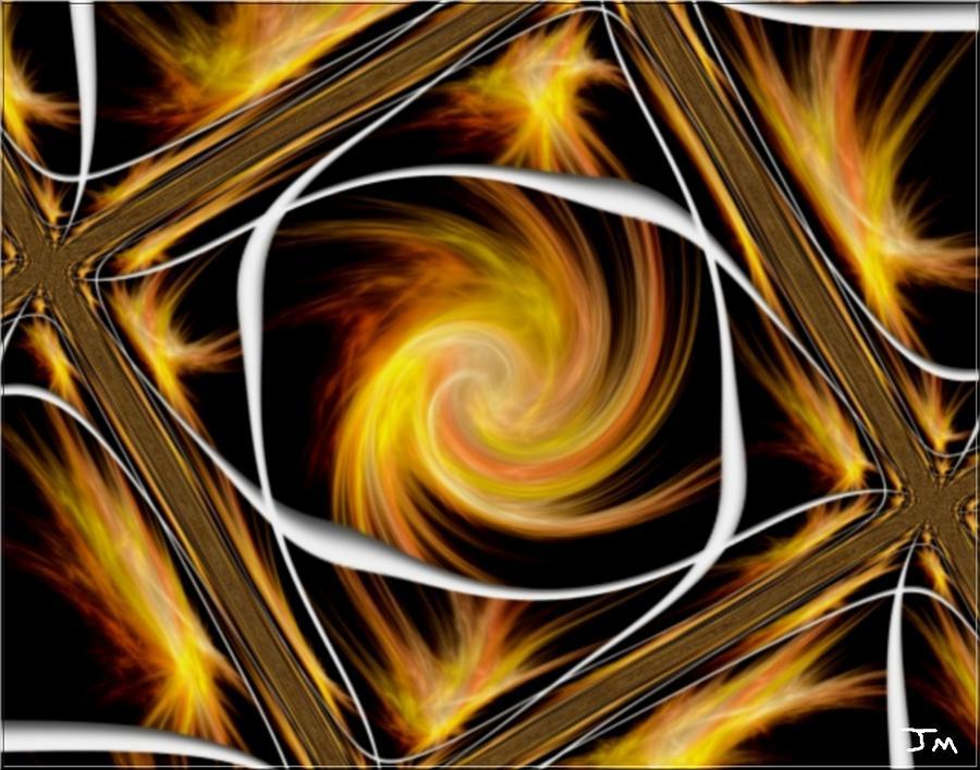 Fire Tiles Digital Art