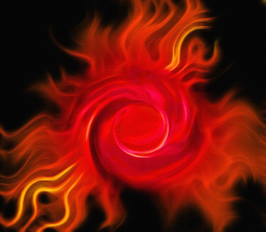 Fireball - Cosmic Peacock 2 Photograph