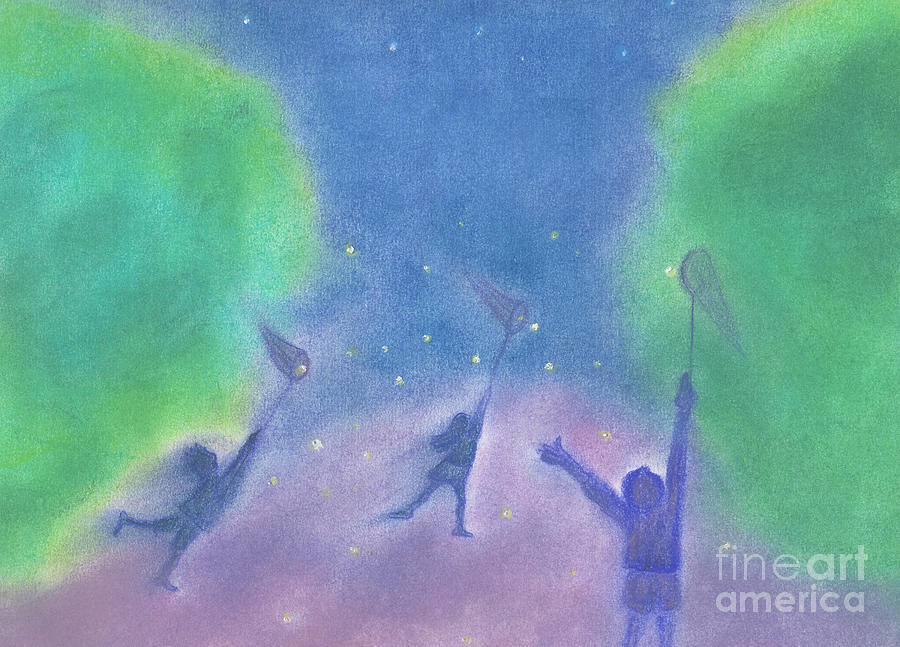 Fireflies By Jrr Painting  - Fireflies By Jrr Fine Art Print
