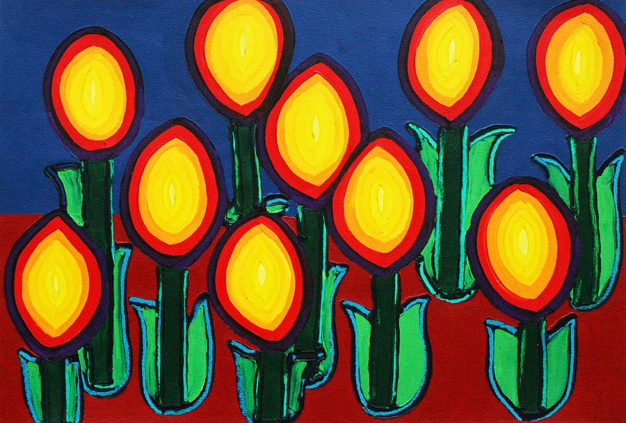 Fireflowers Painting
