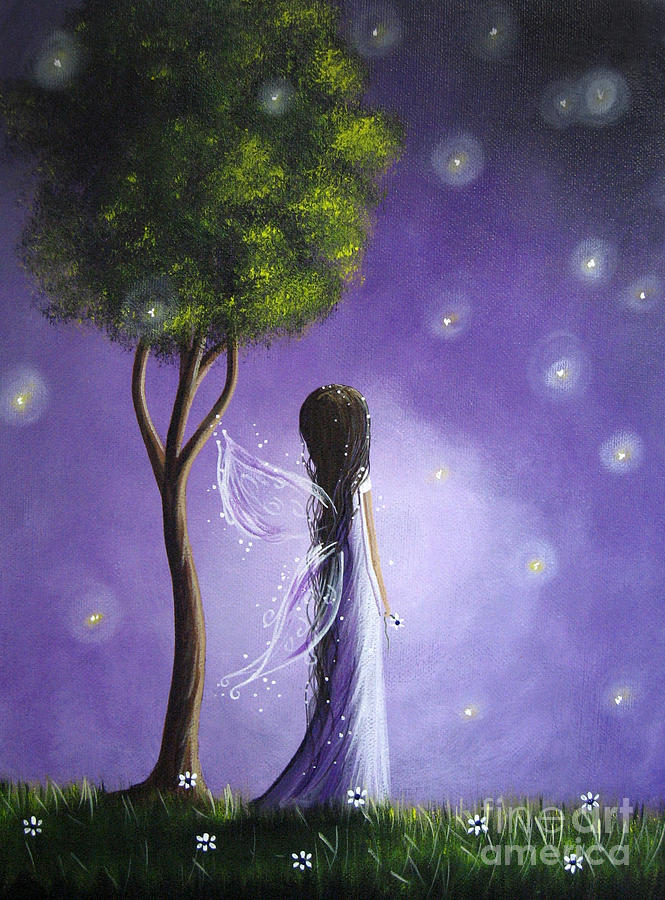 Firefly Fairy By Shawna Erback Painting