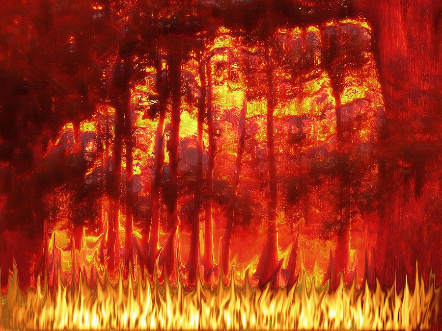 Fireline Digital Art