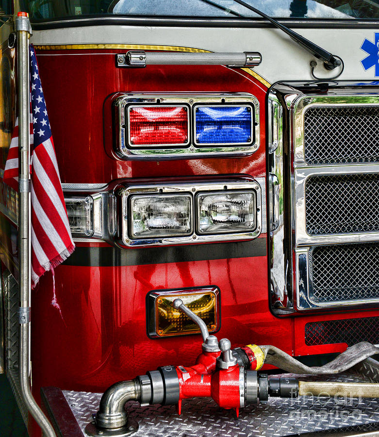 Fireman - Fire Engine Photograph  - Fireman - Fire Engine Fine Art Print