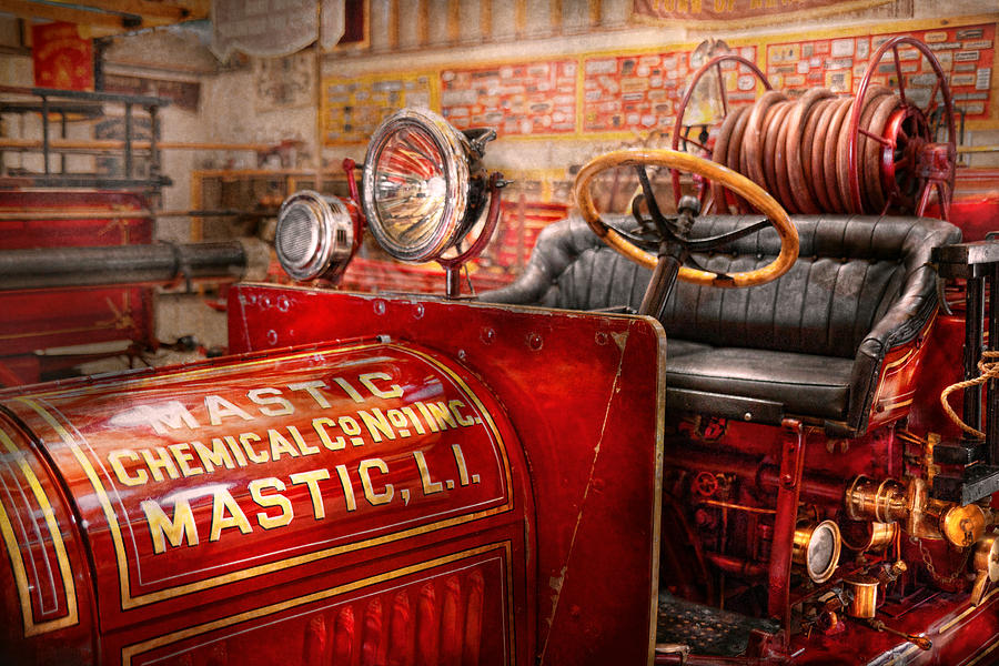Fireman - Mastic Chemical Co Photograph  - Fireman - Mastic Chemical Co Fine Art Print