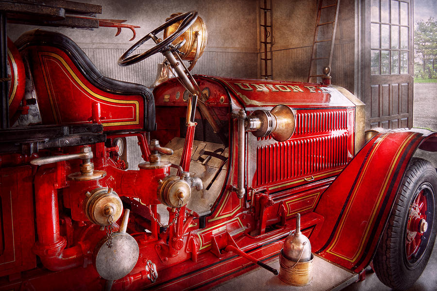 Fireman Photograph - Fireman - Truck - Waiting For A Call by Mike Savad