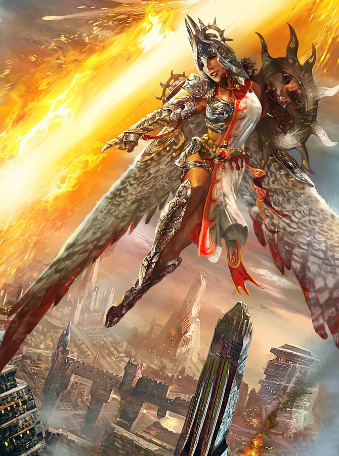 Firemane Avenger Promo Digital Art