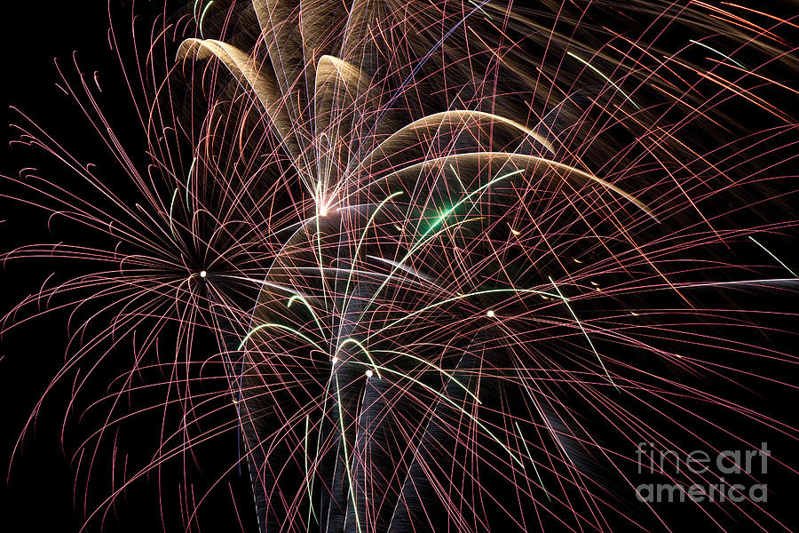 Firework Trails Photograph  - Firework Trails Fine Art Print