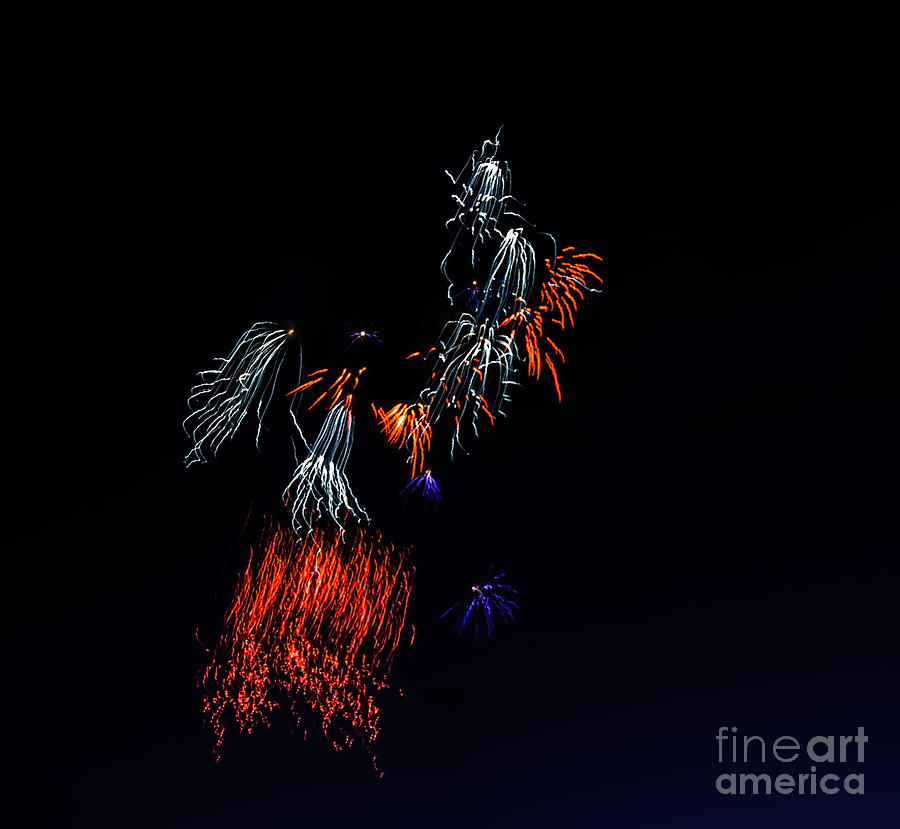 Fireworks Photograph - Fireworks Abstract by Robert Bales