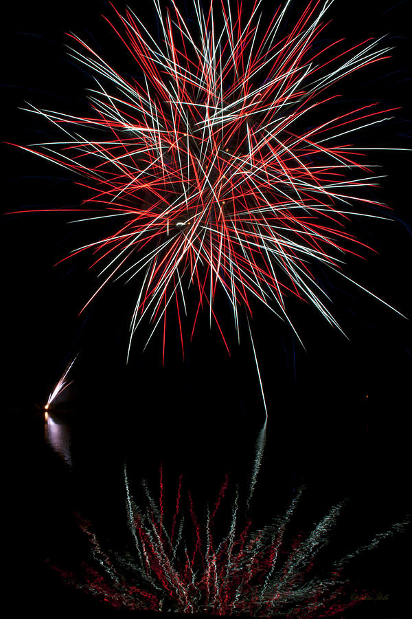 Fireworks Photograph - Fireworks Rockets Red Glare by Christina Rollo