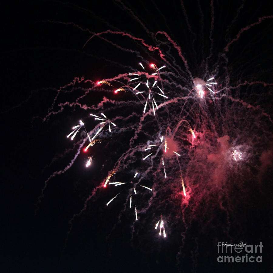 July Photograph - Fireworks Series Xi by Suzanne Gaff