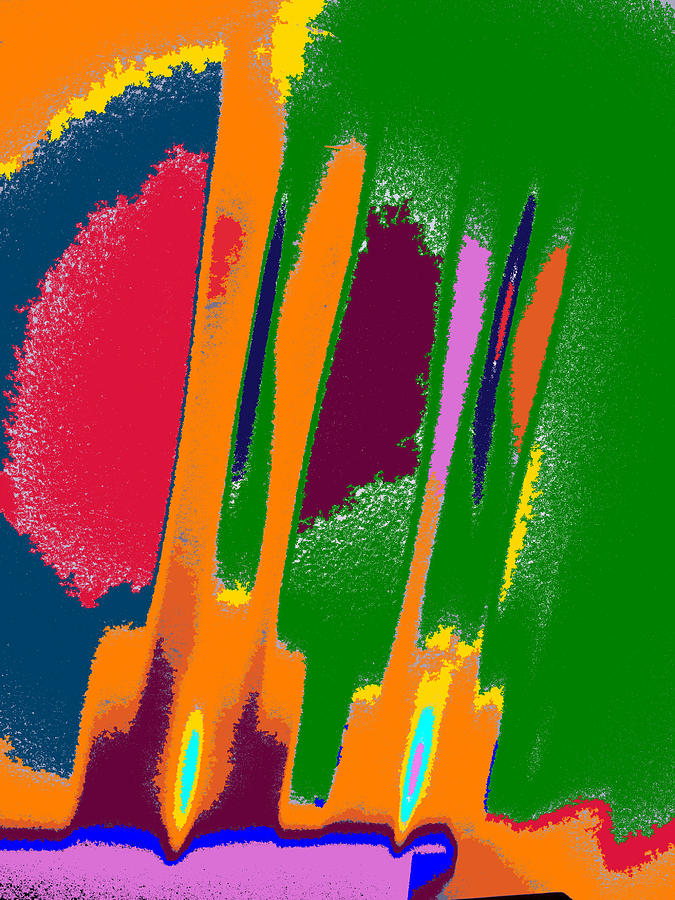 Abstract Photograph - Fireworks by Tom Druin